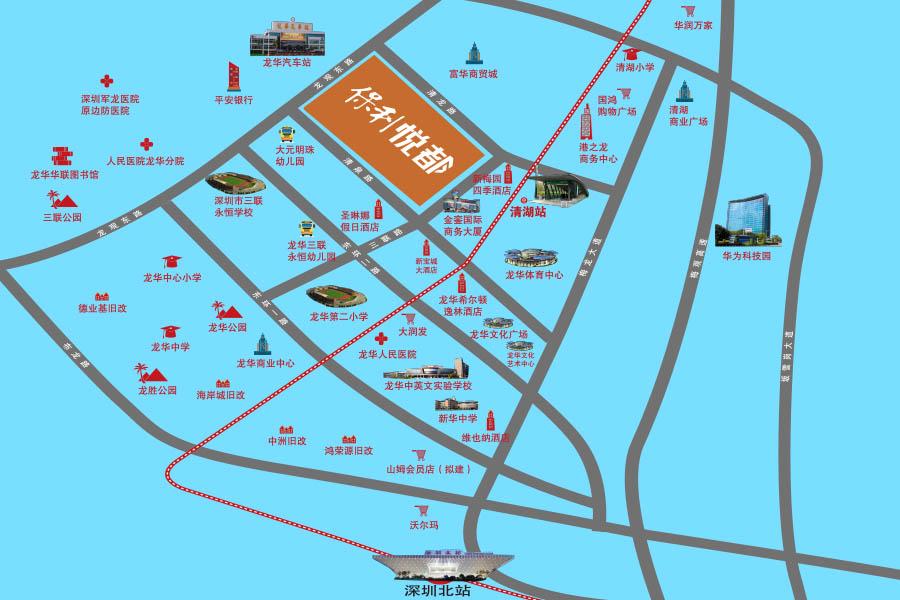龙华地铁站到龙华汽车站有多远